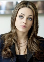 lovely hairstyles of mila kunis