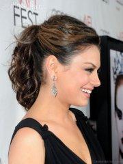 lovely hairstyles of mila kunis