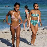 Christina Milian and Karrueche Tran Stills Seen on the Beach