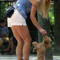 Michelle Hunziker at a Park in Milan Photos
