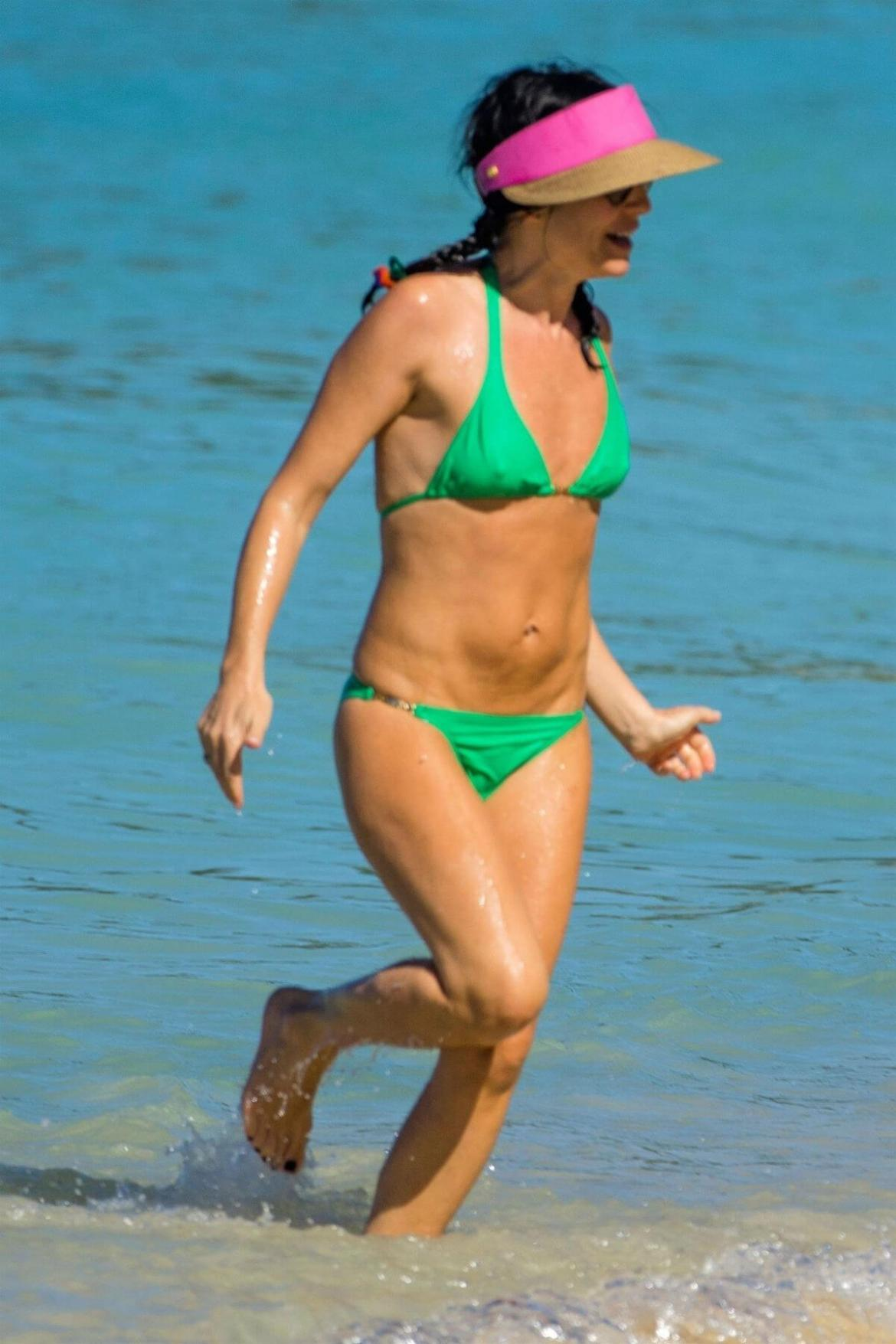 Andrea Corr in Bikini at a Beach in Barbados 2018/12/24