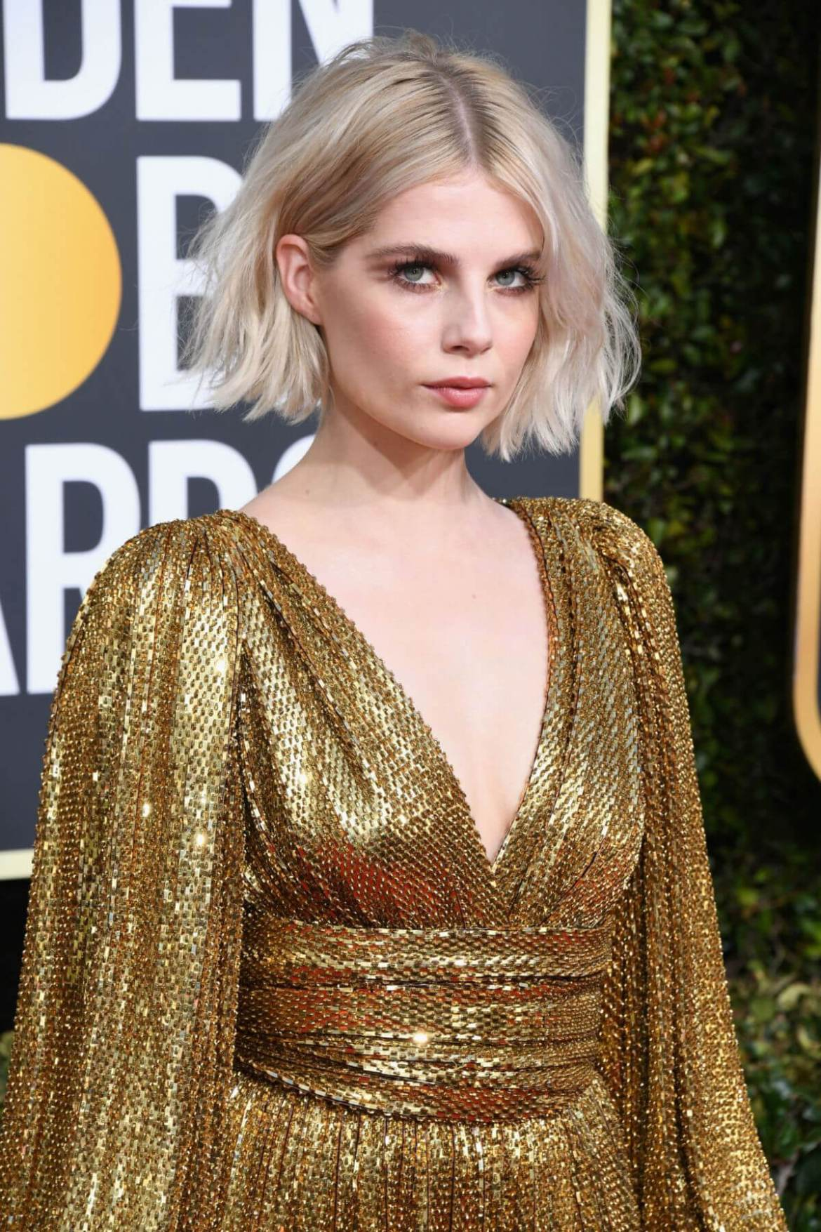 Lucy Boynton at 2019 Golden Globe Awards in Beverly Hills 2019/01/06