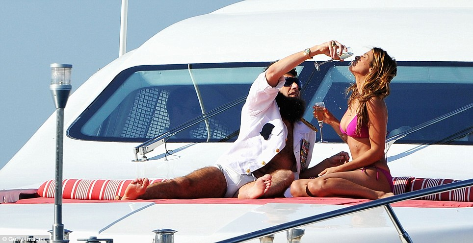 Sacha Baron Cohen Causes A Scene On Luxury Yacht In Cannes