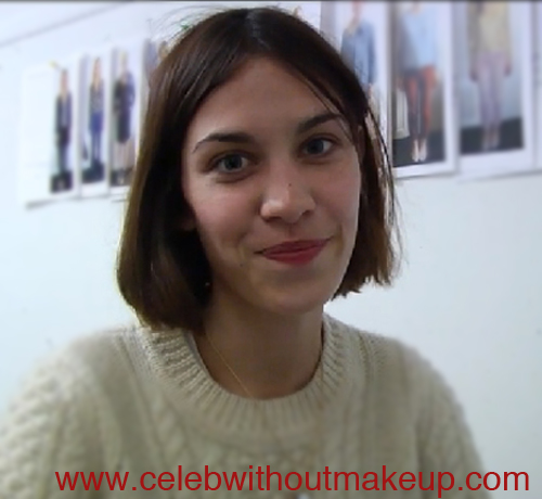 alexa chung celeb without makeup 3