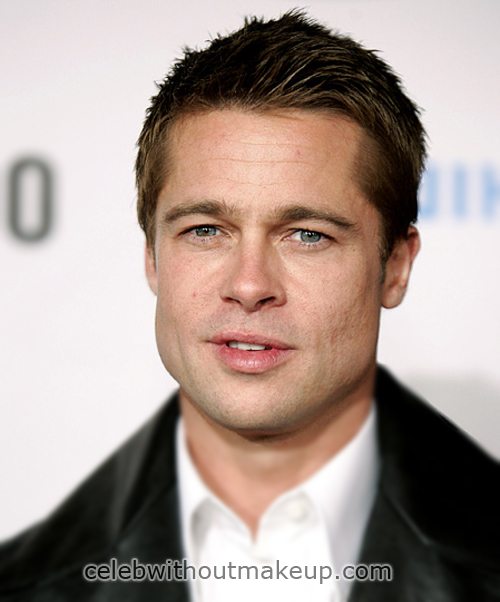 Brad Pitt Natural No Makeup