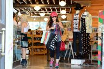 Lucy Hale Shopping Urban Outfitters In Studio City