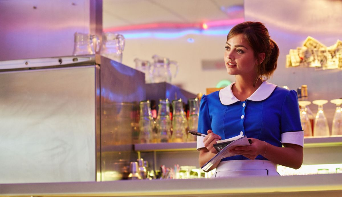 Tardis Girl Wallpaper Jenna Coleman In A Waitress Costume At The Doctor Who