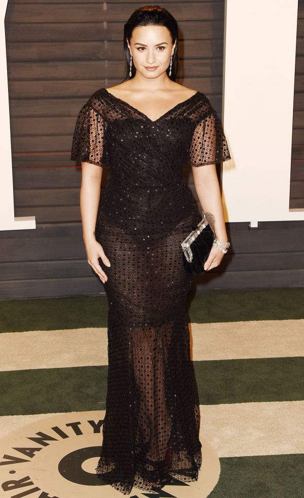 Demi Lovato Vanity Fair Oscar Party In Beverly Hills