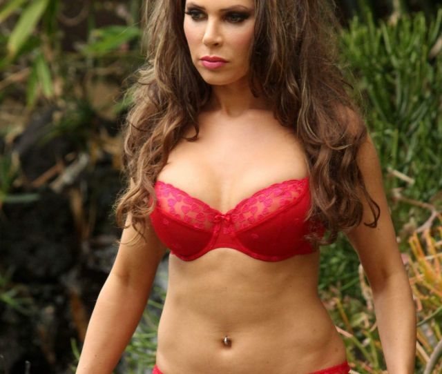 Erika Jordan At Photo Shoot Wearing A Red Bikini In State Park