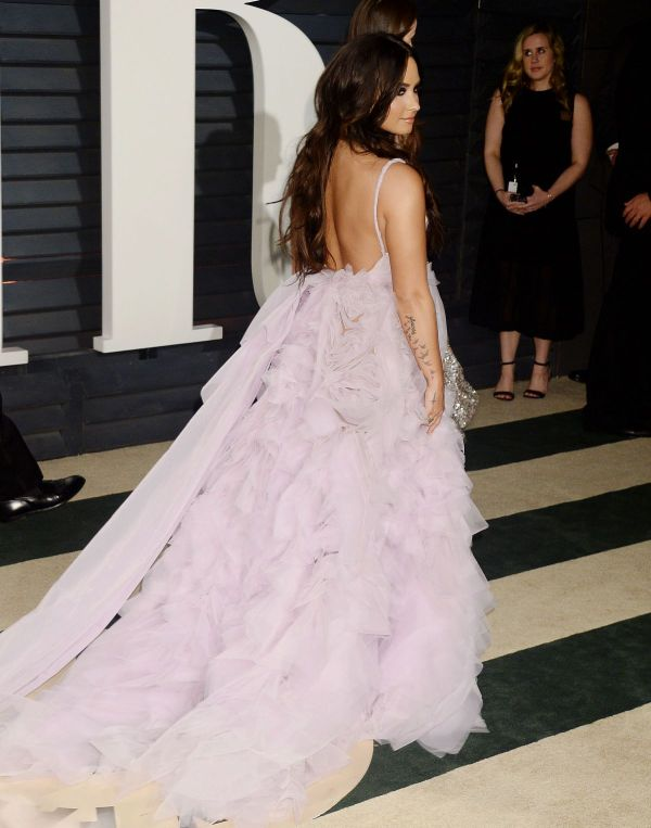 Demi Lovato 2017 Vanity Fair Oscar Party In Beverly