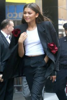 Zendaya Coleman Leaves Good Morning America In York