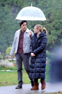 Lili Reinhart & Cole Sprouse Filming Episode Of
