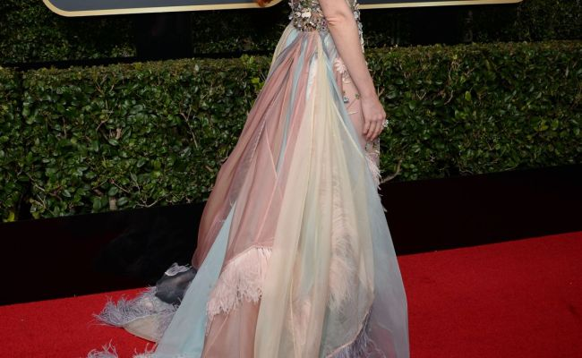Barbara Meier At The 75th Annual Golden Globe Awards At