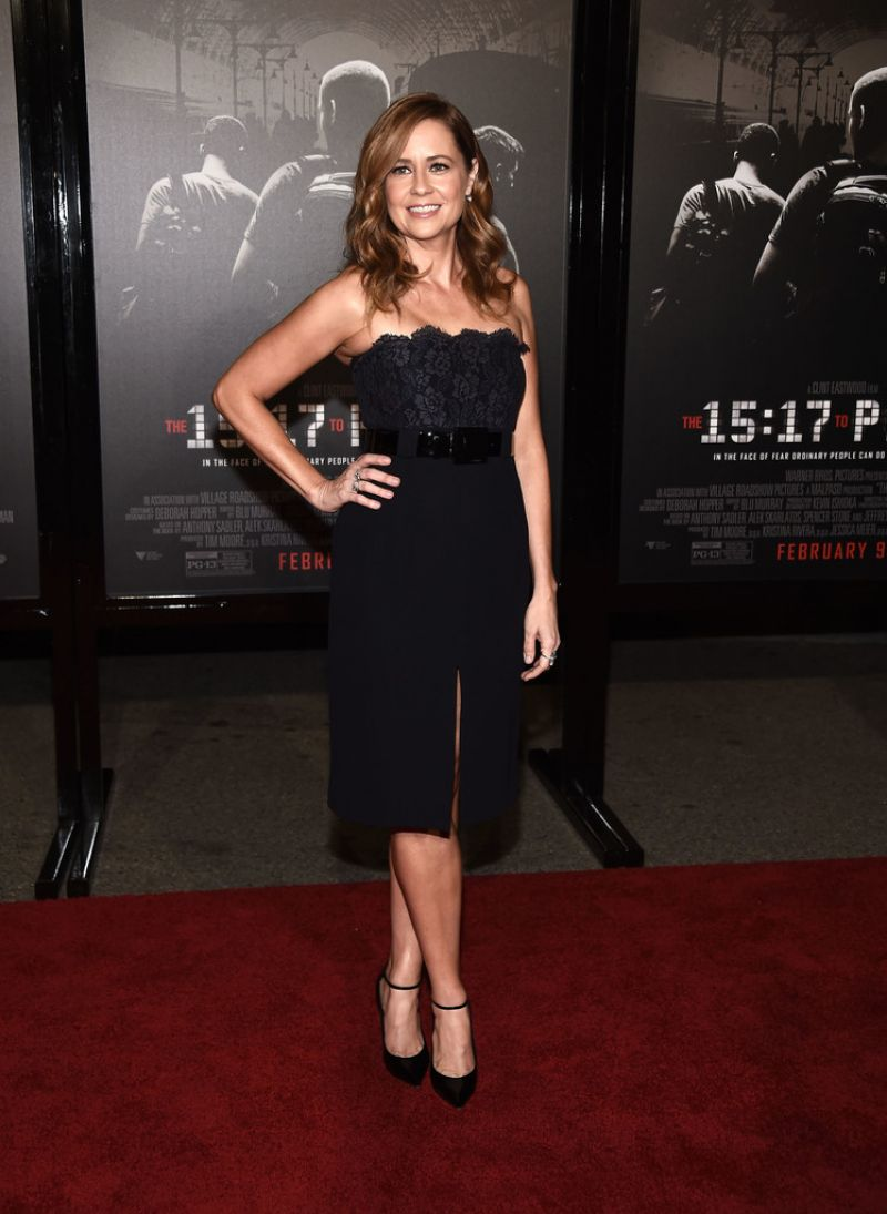 Jenna Fischer At premiere of The 1517 To Paris in