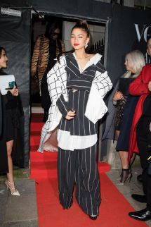 Zendaya Leaving Annabel Vogue X Bafta Party In