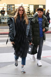 Heidi Klum Shopping Glasses With Oldest Son