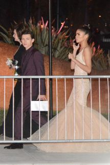 Zendaya And Tom Holland Leave Vanity Fair Oscar Party