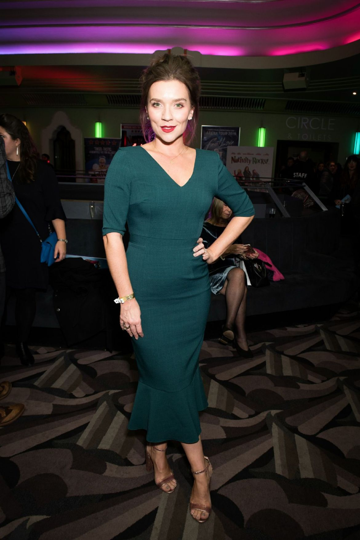 Candice Brown At 'Nativity The Musical' musical, Gala Night, London