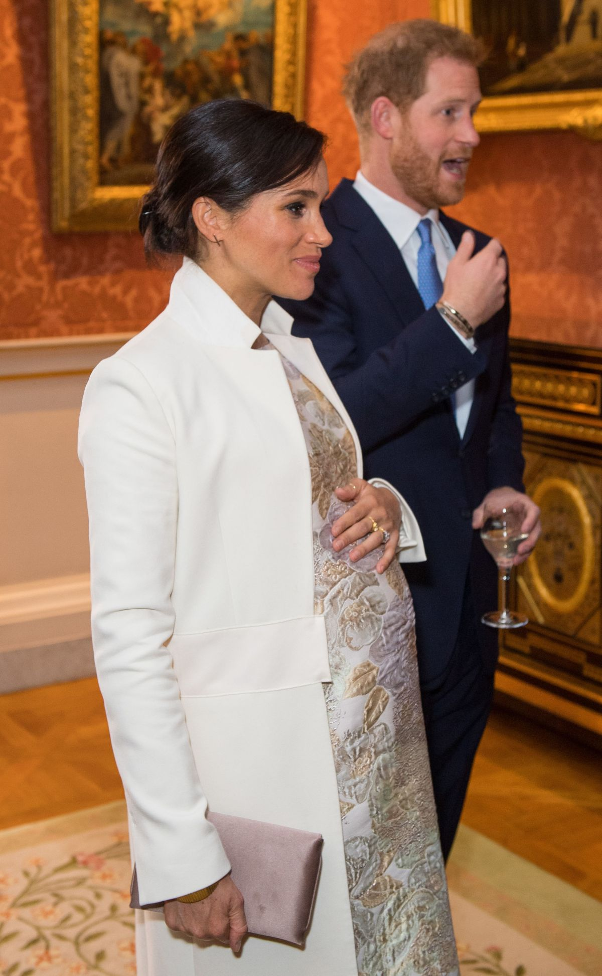 Meghan Markle Duchess of Sussex attends a reception to mark the fiftieth anniversary of the