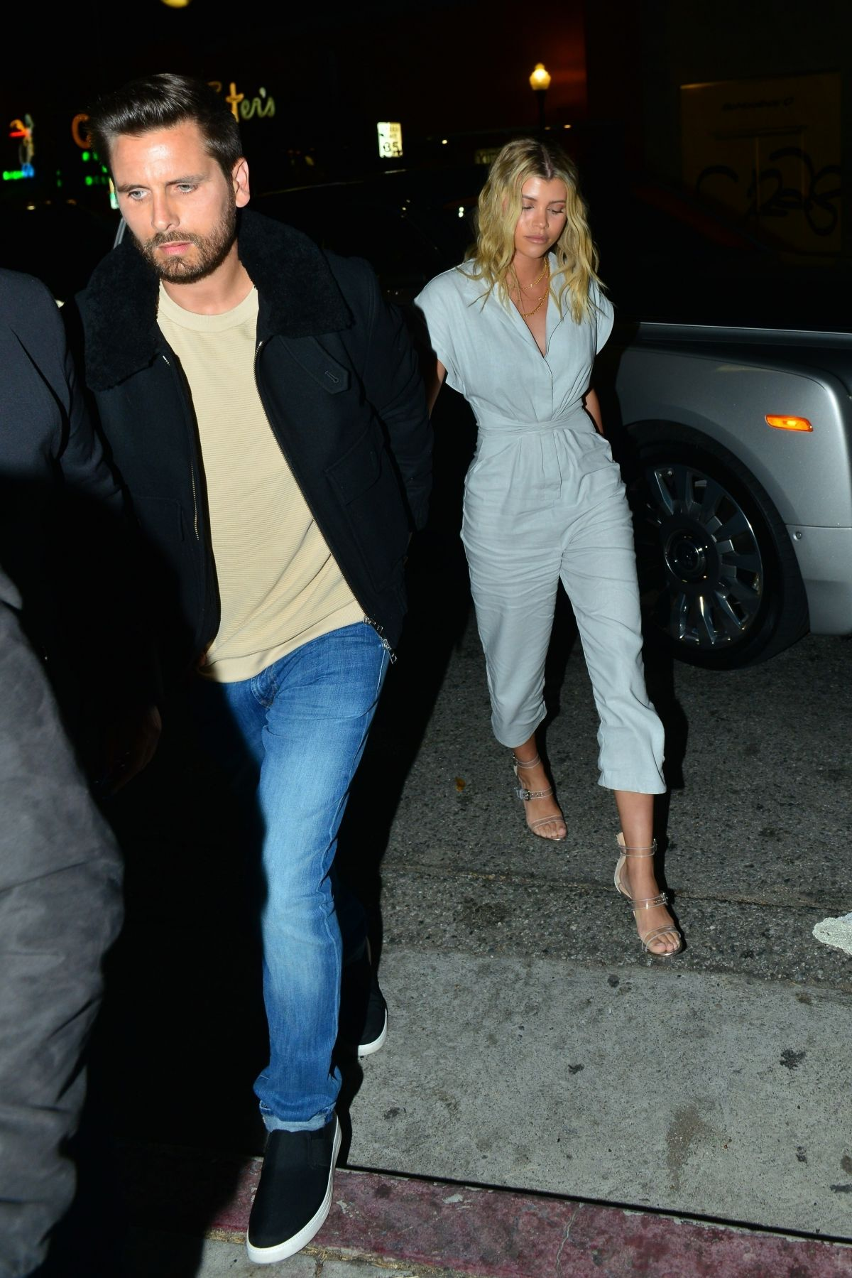 Sofia Richie and Scott Disick outside No Name in LA  Celebzz