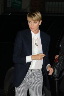 Charlize Theron Arrives Screening Of Bombshell In