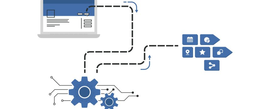 Infographic displaying data flow for the data layer blog
