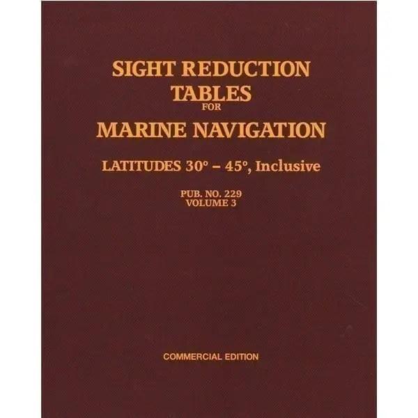 HO-229 Marine Navigation Volume III Latitudes 30-45