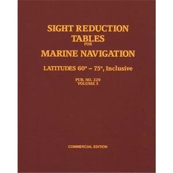 HO-229 Marine Navigation Volume V Latitudes 60-75