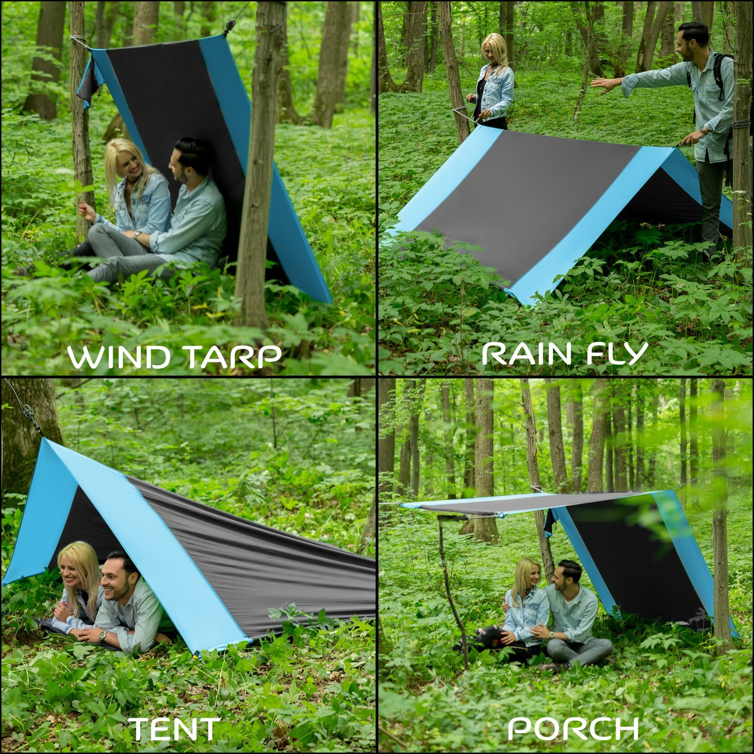 Lazy Monk Portable Camping Hammock Tent
