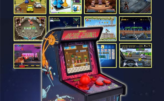 Mini Arcade Game Retro Machines For Kids With 200 Classic