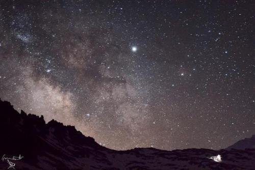 Panorami notturni, Via Lattea, grande campo, star trail