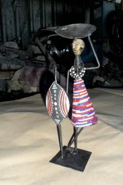 Resultado de imagem para arte africana feita de ferro
