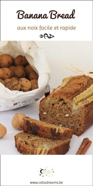 Banana bread moelleux - recette facile et rapide