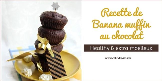 Recette de muffins choco-banane ultra moelleux et sains