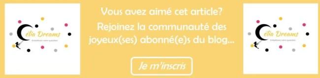 Inscription Newsletter Célia Dreams