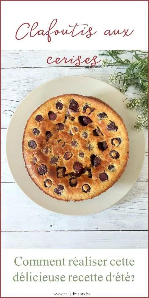 Testez ma recette de clafoutis aux cerises facile et rapide à réalsier. Un délicieux dessert d'été qui plaira aux enfants. et aux parents.