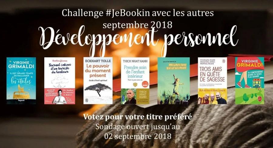 JeBookin avec les autres - Edition de septembre 2018: Développement personnel