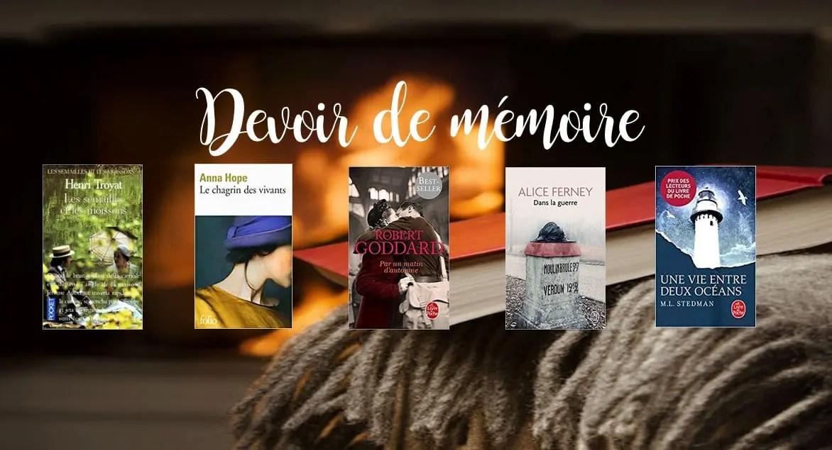 #JeBookin avec les autres - Edition de novembre 2018: Devoir de mémoire