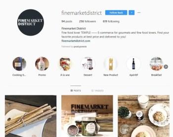 Découvrez Finemarket District sur Instagram l'eshop belge de produits d'alimentation haut de gamme à petits prix