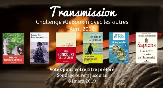 Challenge #JeBookin avec les autres 13 (avril 2019)