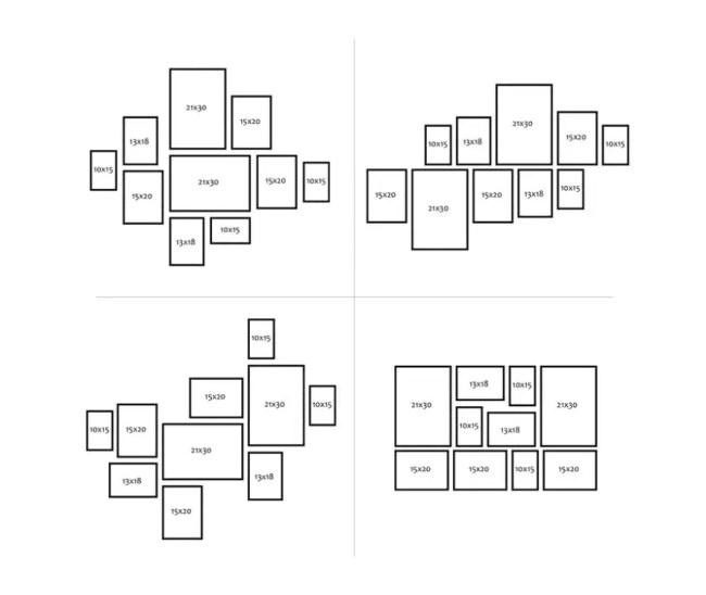 Apprendre à agencer harmonieusement des cadres photos (décoration murale minimaliste)