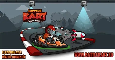 Battlekart logo- avis sur ce karting à la Mario Kart interactif