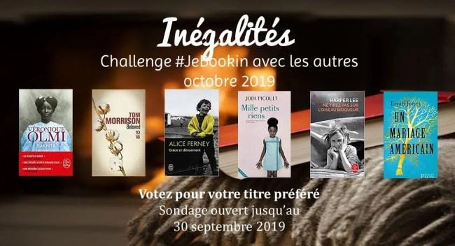 #JeBookin - Challenge de lecture commune d'octobre 2019