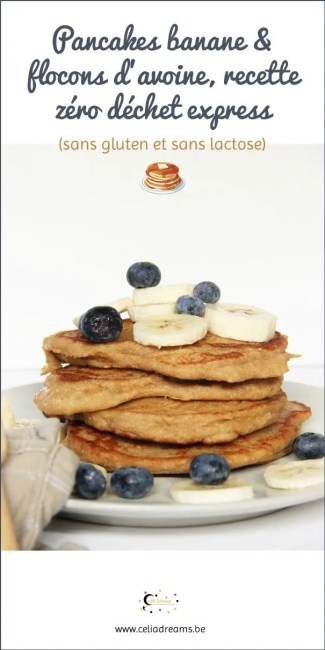 Pancakes banane flocons d'avoine, recette healthy pour le petit dejeuner