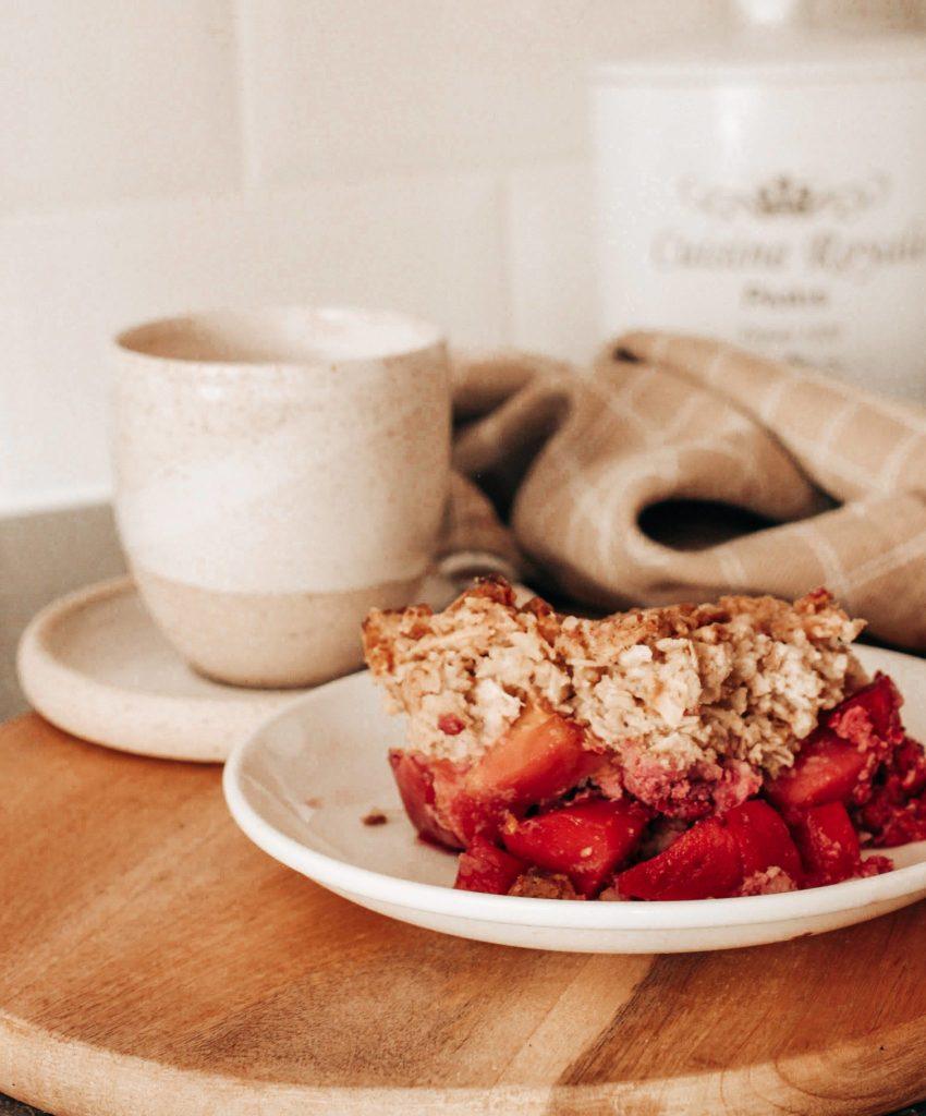 Pâte à crumble healthy aux flocons d'avoine (ou de pois chiche)