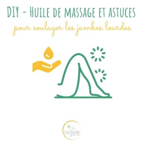 Huile de massage pour jambes lourdes (recette DIY)