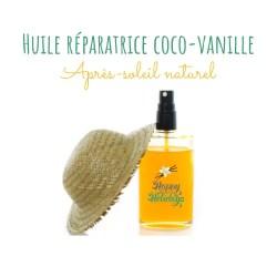 Soin après-soleil naturel: huile réparatrice coco vanille (DIY)