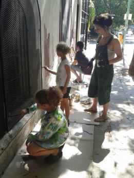 Kids helping out