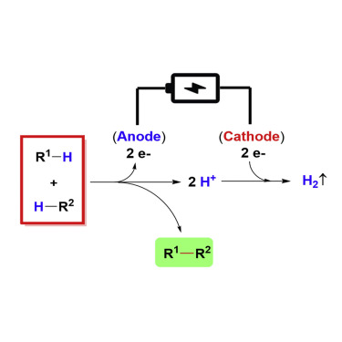 Electrochemical Oxidative Cross-coupling with Hydrogen