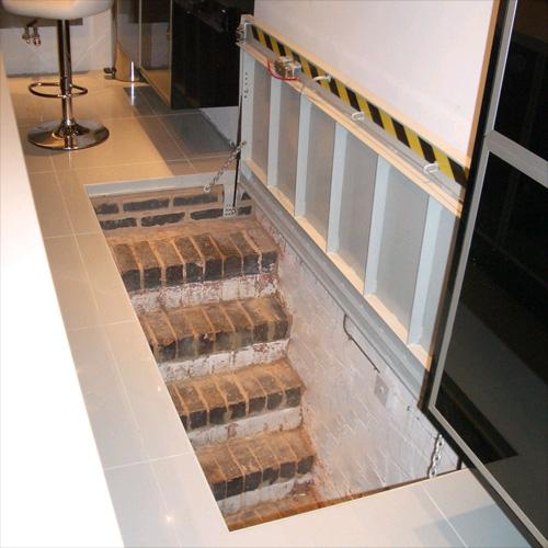 Cellar Access  Staircase Door